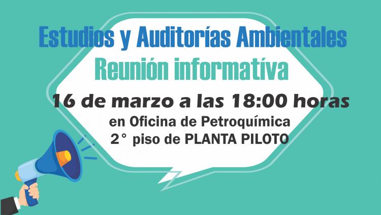 Reunión informativa ESTUDIOS Y AUDITORIAS AMBIENTALES