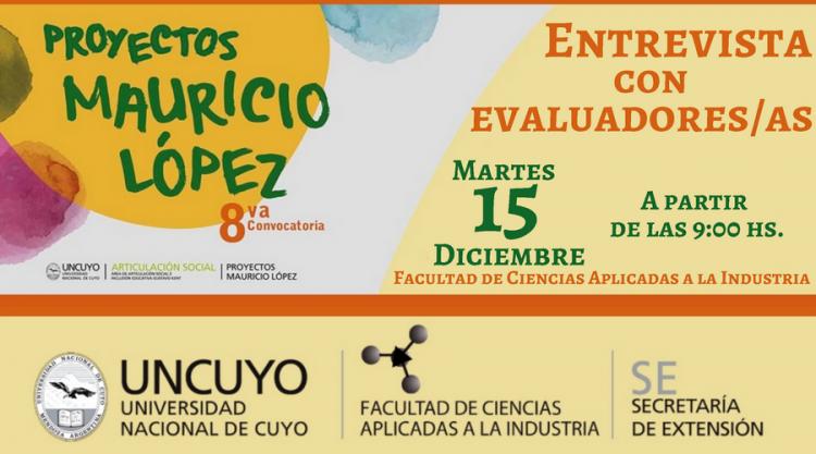 Entrevistas con los evaluadores de los Proyectos Mauricio López en la FCAI