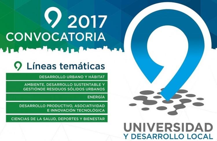 Abrió la Convocatoria «Universidad y Desarrollo local» 2017