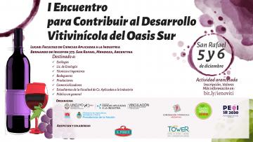 I Encuentro para contribuir al Desarrollo Vitivinícola del Oasis Sur