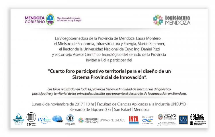 4to. Foro Participativo Territorial para el Diseño de un Sistema Provincial de Innovación