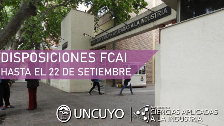 La FCAI Extiende la suspensión de asistencia al trabajo y clases no presenciales hasta el 22 de setiembre