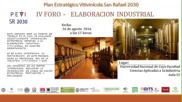 IV FORO Plan Estratégico Vitivinícola San Rafael 2030