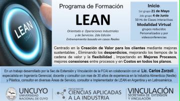 Programa de formación en LEAN (curso virtual)