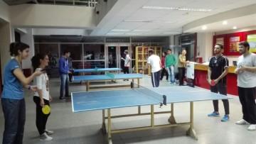 Se disputó el torneo de tenis de mesa estudiantil