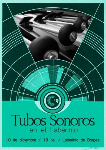 Atardecer de tubos sonoros en el laberinto + piano y canto