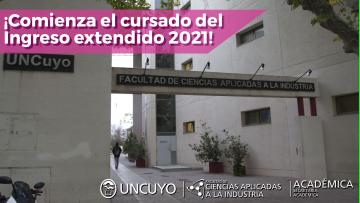 ¡Comienza el cursado del Ingreso extendido 2021!