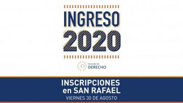Facultad de Derecho de la UNCUYO inscribirá en San Rafael