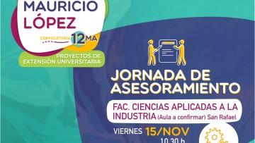NUEVA FECHA Reunión Informativa: 12ma Convocatoria de Proyectos Mauricio López