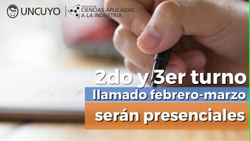 Las mesas de exámenes del 2do y 3er llamado correspondientes al turno Febrero-Marzo 2021 serán presenciales