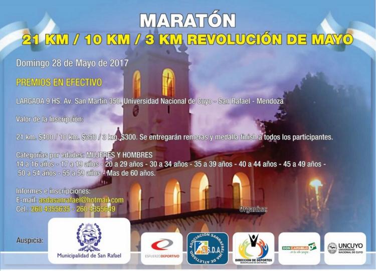 Quinta edición de la Maratón Revolución de Mayo