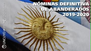 Nómina definitiva de los nuevos abanderados y escoltas 2019-2020