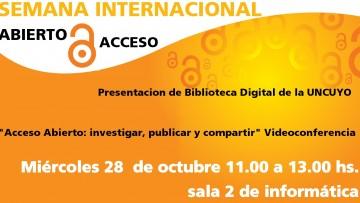 """La Biblioteca de la Facultad de Ciencias Aplicadas a la Industria participará de la """"Semana internacional del Acceso Abierto"""""""
