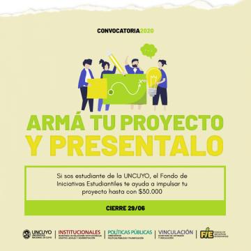 El FIE (Fondo de Iniciativas Estudiantiles) lanza la convocatoria 2020