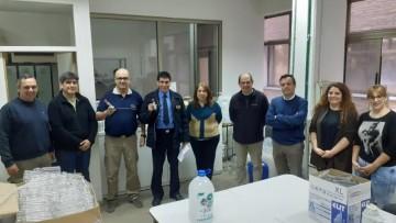 Se entregó alcohol en gel a la Policía de Mendoza