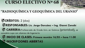 Nº 68: RADIOQUÍMICA Y GEOQUÍMICA DEL URANIO