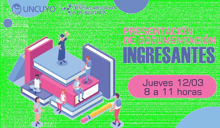 Presentación documentación ingresantes 2020