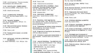 Programa Jornadas Bromatológicas