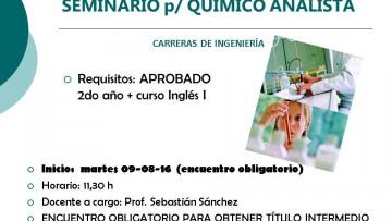 Seminario para Químico Analista