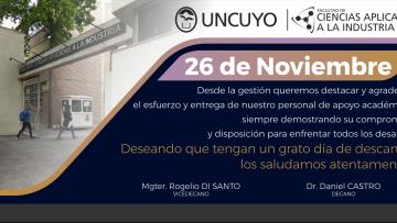 26 de noviembre - Día del Personal de Apoyo Académico