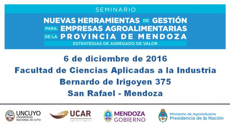 Nuevas Herramientas de Gestión para empresas Agroalimentarias de la Provincia de Mendoza