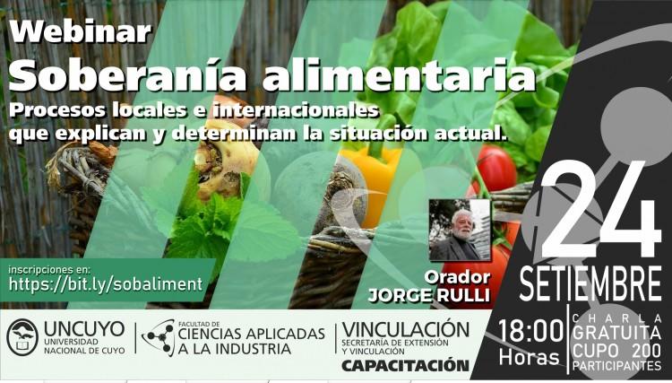 Soberanía Alimentaria: Procesos Locales e Internacionales que explican y determinan la situación actual.