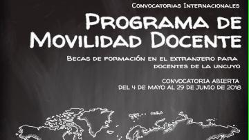 Programa de movilidad para docentes UNCuyo 2018-2019