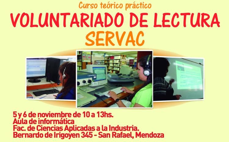 Se realizará un Curso teórico práctico sobre Voluntariado de Lectura para personas con discapacidad visual