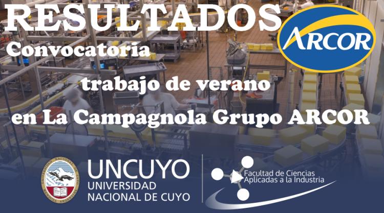 Resultado de la Convocatoria  de trabajo La Campagnola Grupo ARCOR