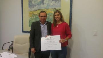 Se entrego distinción Elisa Norton a estudiante de la FCAI