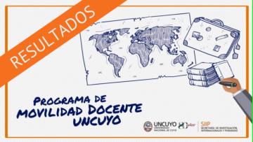 Resultados finales: Convocatoria movilidad docente 2019-2020