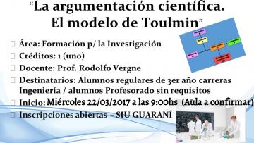 """Electiva Nº 155 """"La argumentación científica. El modelo de Toulmin"""""""