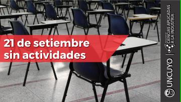 21 de setiembre se declara asueto académico/administrativo