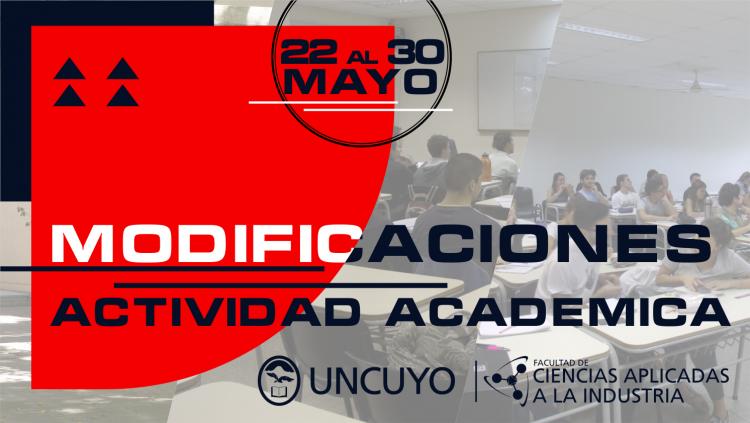 Actividades del 22 al 30 de mayo