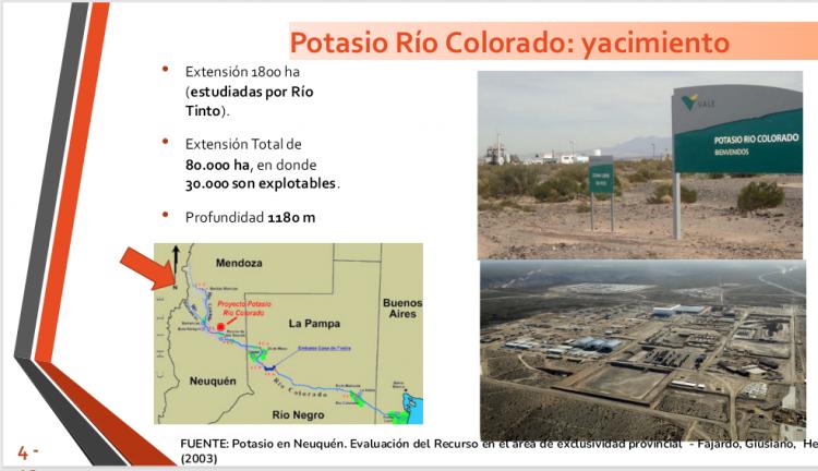 Propuesta de reactivación Potasio Río Colorado