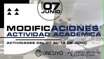 Actividad académica del 07 al 12 de junio