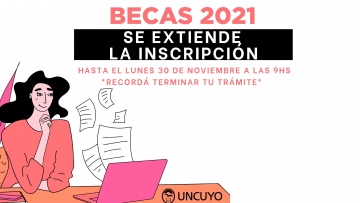 Extensión de plazos Convocatoria Becas Estudiantes 2021.