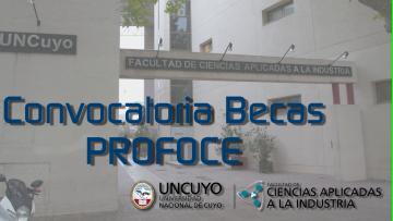 Convocatoria para el otorgamiento de Becas PROFOCE 2018 Alumnos