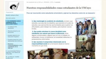 """Curso virtual """"Ser Estudiante de la UNCuyo"""""""