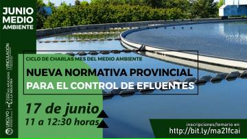 Mes del Medio Ambiente - Charla: nueva normativa provincial para el control de efluentes