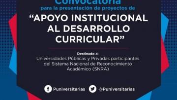 "Convocatoria ""Apoyo institucional al Desarrollo Curricular"""