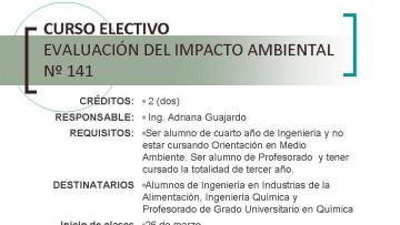 Curso Electivo: Evaluación de Impacto Ambiental Nº 141