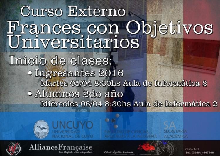 Inicio Curso Externo de Francés con Objetivos Universitarios