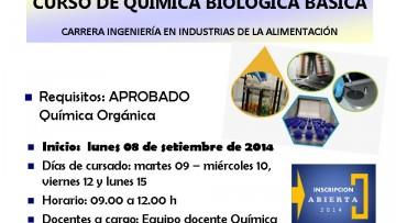 CURSO QUÍMICA BIOLÓGICA BÁSICA - Carrera ingeniería en Industrias de la Alimentación