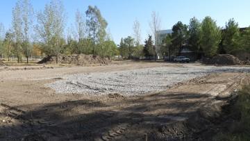 Comenzaron las obras de construcción del playón deportivo de la FCAI