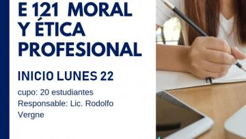 "Electiva E121 ""Moral y Ética Profesional"""