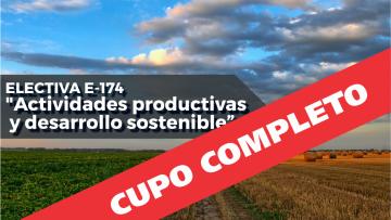 """Electiva E-174 """"Actividades productivas y desarrollo sostenible"""""""