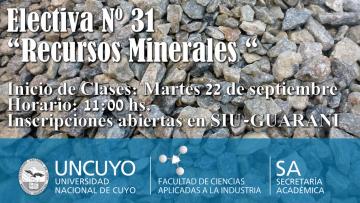 """Electiva Nº 31  """"Recursos Minerales """""""