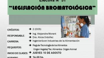Electiva Nº 51 Legislación Bromatológica