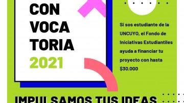 El Fondo de Iniciativas Estudiantiles abre la convocatoria 2021
